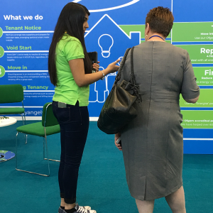 Talking with Public at CIH Housing Exhibition